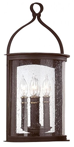 Troy Two Light Wall Pocket Lantern Lighting B9472FBK Two Light Wall Pocket Lantern ()