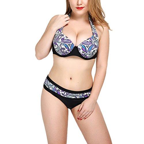 Zhhlinyuan Comfortable Swimwear Beach nadando Bathing Suit womens Bikini Set Blue&Purple