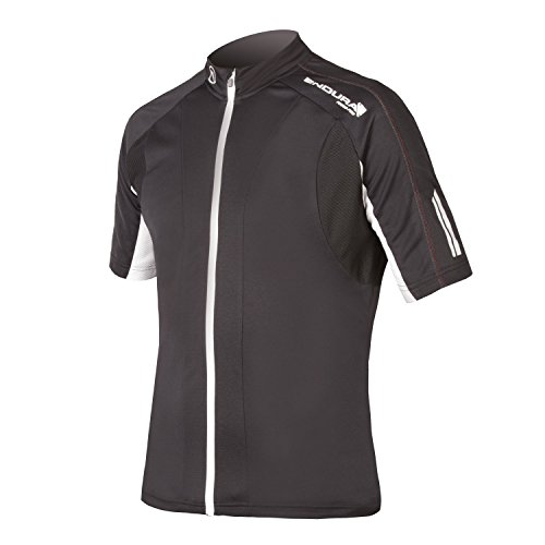 (Endura FS260-Pro Short Sleeve Cycling Jersey II Black, Large)