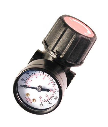 Primefit CR1401G Replacement Air Regulator with steel-Protected Gauge, 1/4