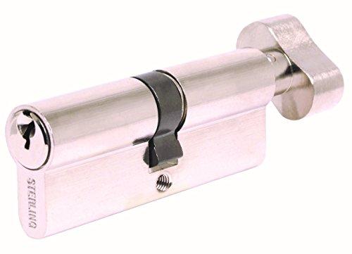 Sterling Locks ETN5050V Euro Profile Thumbturn Cylinder, Nickel, 50 x 50 mm Sterling Door Locks