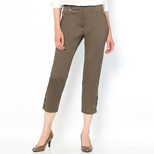 Stretch Cotton Cropped Trousers - 5