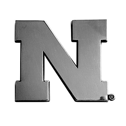 University of Nebraska Chrome Car Emblem - University Chrome Car Emblem