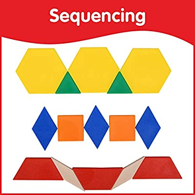 Edx Education Plastic Pattern Blocks - in Home Learning Manipulative for Early Geometry - Set of 250 - Shape Recognition, Symmetry, Patterning and Fractions - Ages 4+: Industrial & Scientific