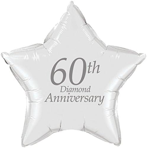 60th Anniversary Party STAR MYLAR BALLOON