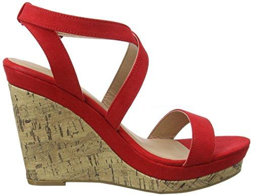 New Look Oiler, Escarpins Bride Cheville Femme Red (Bright Red 60)