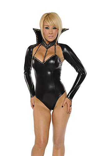 Nom de Plume, Inc Sexy 2Pc Rhinestones Witch Bodysuit Costume Set Large (Sexy Rhinestone Witch Costumes)