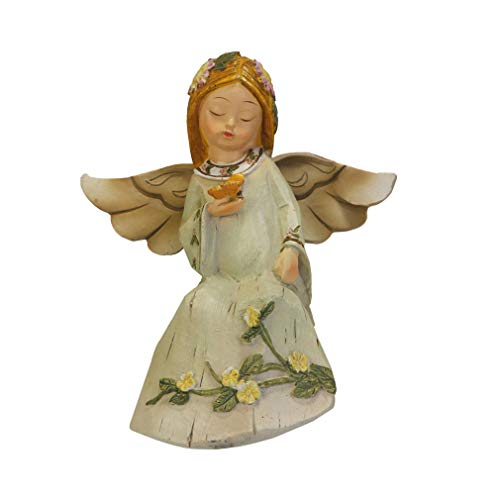 - LY-Home Miniature Fairy Figurines Resin Fairy Angel Sitting Fairy Girl with Butterfly Statue Decor