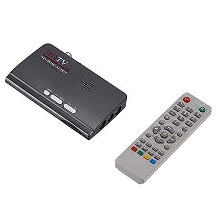 VGA DVB-T2 Decodificador Receptor de señal de TV Digital Mini TV ...