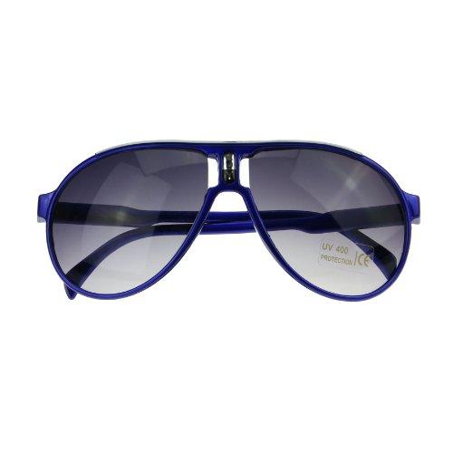 BXT Chidrens Kids Boys Girls Fashion Large Round Frames UV400 Lens Wayfarer Style Aviator Sunglasses Shades Baby Cool Goggles w/ Glasses - Baby Sun Goggles