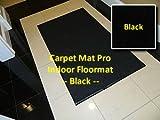 Walk Off Entry Floor Mat - Carpet Mat Pro - 3' x 9' - Black - Non Skid Indoor Runner Matting