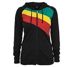 Ladies 3 Color Jersey Ziphoody blk/tur/lg XS: Amazon.es: Deportes ...