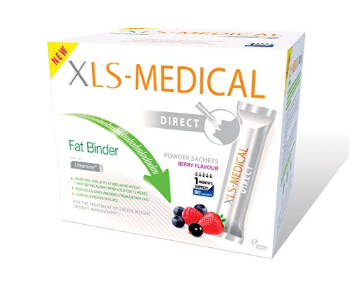 XLS Medical Fat Binder Direct Weight Loss Aid - 1 Month Supply Pack, 90 Sachets by Omega Pharma by XLS Medical