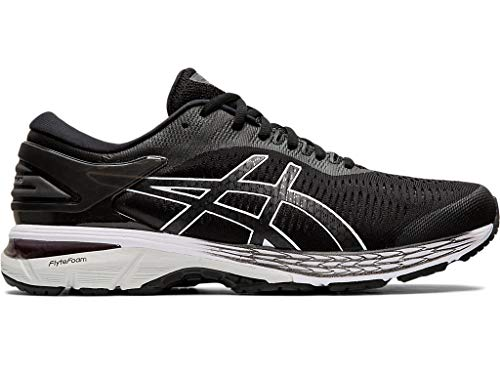 ASICS Mens Gel-Kayano 24 Running Shoe, Silver/Black/Mid Grey, 11.5 Medium US