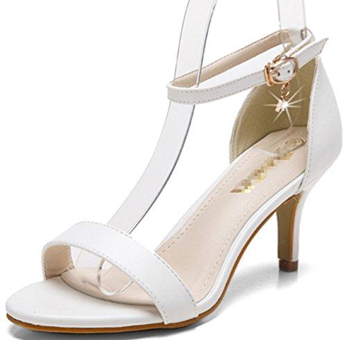 Party Damen Sandalen High Schnalle Charakter Super EIN echte Hochzeit Comfort Spitzige sexy Series Weiß formal Classic Heels Zhhzz LIANGXIE Schuhe 6RYdxwY