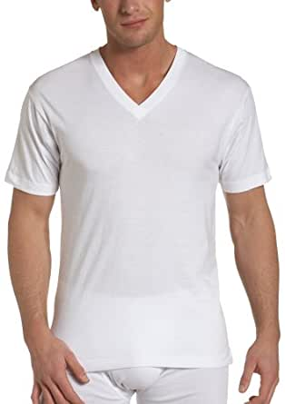 Dockers Men's Big-Tall 3-Pack V-Neck T-Shirt, White, Large/Tall