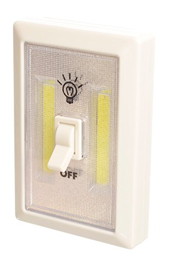 Promier Light-Switch Battery Operated Cordless Light Super Bright COB LED Technology for Baby Nursery, Hallways, Bedrooms, Closets, RV's, Batteries Included!!!