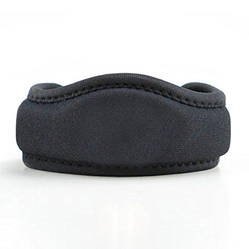itBandz – Basic Black - Med - Low-Profile Knee Brace – Patella Tendon Knee Strap, Designed for Pain Relief from Arthritis, Tendonitis, Bone on Bone, Jumpers Knee, Runners Knee - Adjustable & Durab