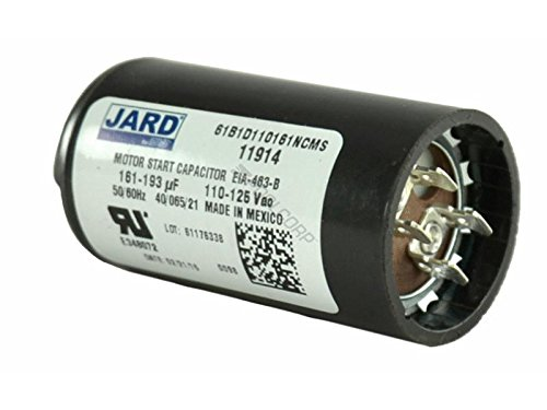 161-193 uF x 110 / 125 VAC - JARD 11914 Start Capacitor - BMI Replacement # 092A161B125AC1A - Made in the USA by Bmi