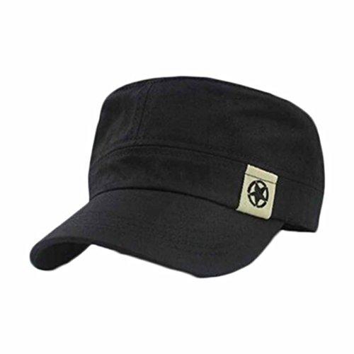 Militar De Techo Campo AIMEE7 Plano De Sombrero BéIsbol Gorra Negro Patrulla Sombrero Cadete Bush De 5ZwUf