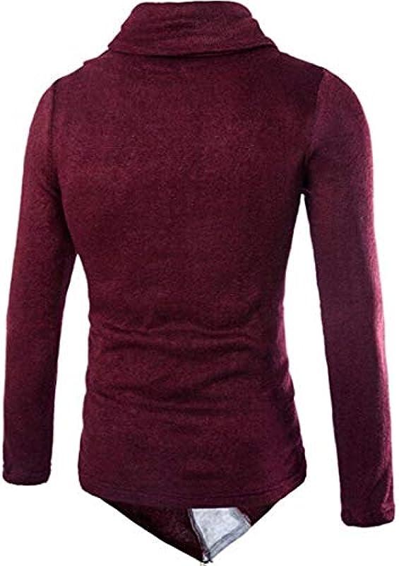 Męski casual Roll Neck Jumper Knitwear Winter Knitted Fashion Sweater Long Sleeves sweter Slim gÓrne części topy: Odzież