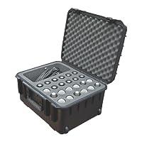 Estuche moldeado por inyección SKB con espuma para (24) micrófonos con compartimiento de almacenamiento y ruedas