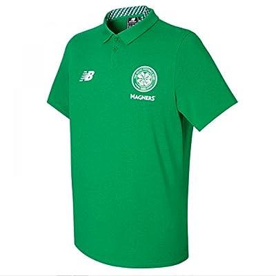 New Balance 2017-2018 Celtic Motion Training Polo Football Soccer T-Shirt Jersey (Green)