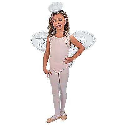 Fun Express White Marabou Angel Wings & Halo Headband Nativity Christmas Play: Toys & Games
