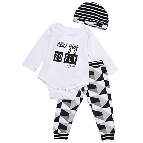 Buy cheap mioim 3pcs baby boys girls rompers bodysuitlong pantshat outfits clothing set
