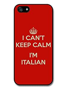 Keep Calm - I Can't Keep Calm I'm Italian Italy Funny Case For HTC One M8 Cover