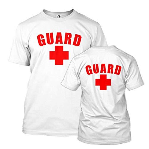 BLARIX Guard T-Shirt with Back Logo (White, XXX-Large)