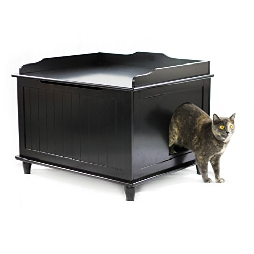 Designer Catbox Jumbo Litter Box Enclosure in Black