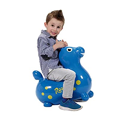 Gymnic / Rody Inflatable Hopping Horse, Blue: Toys & Games