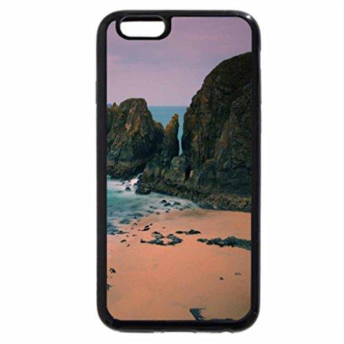 iPhone 6S / iPhone 6 Case (Black) wonderful black rocks on a beach