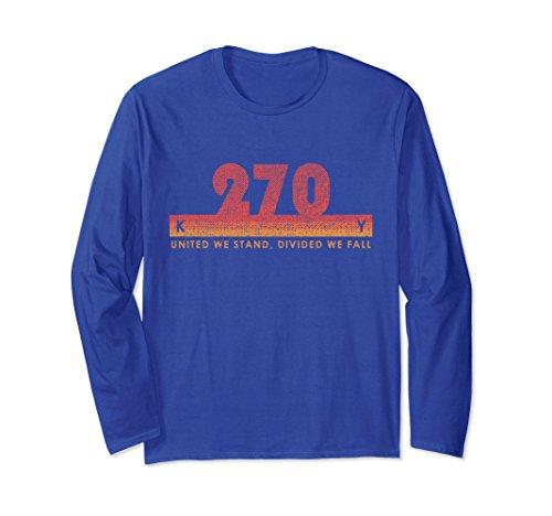 Unisex Kentucky Area Code 270 Shirt Vintage Retro State Motto Gift XL: Royal Blue - Kentucky State Motto
