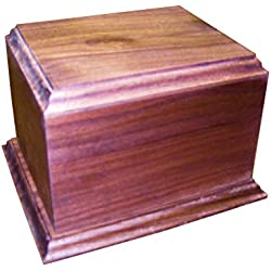 Walnut Pet Urn for Cats and Small Dogs With Personalized Engraving Option - By Steve's Gift Shoppe