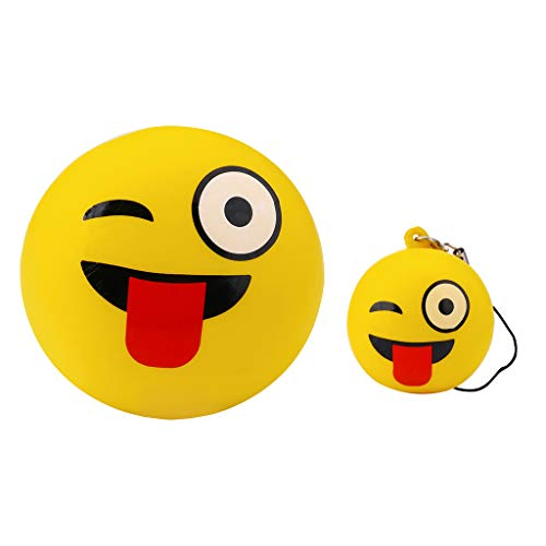 Stress Relief Toys - 2pcs Big & Small Cute Face - Cream Scented Charm Slow Rising Doll Rebound Toys - Birthday Holiday Party Favors for Kids Adults - Stress Ball (E) ()