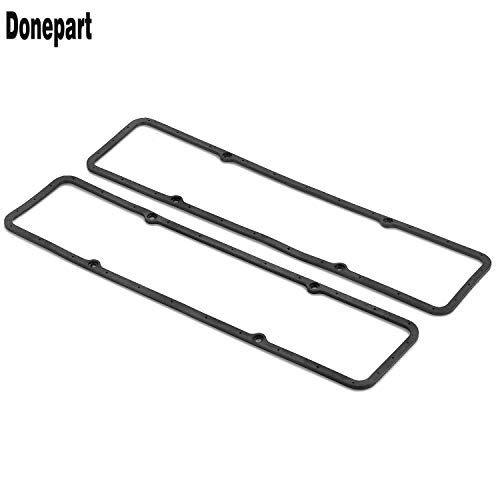 (Donepart for SBC Valve Cover Gasket 7484BOX Steel Core Rubber for SBC Small Block Chevy 283 305 327 350 383 400 Engines)