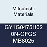 Mitsubishi Materials GY1G0475H020N-GFGS MB8025 Uncoated CBN Grooving Insert for Grooving/Cutting Off, General Purpose Honing, 1 Teeth, H Seat, 0.187'' Grooving Width, 0.008'' Corner Radius