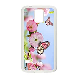 Butterfly And Spring Hight Quality Plastic Case for Samsung Galaxy S5