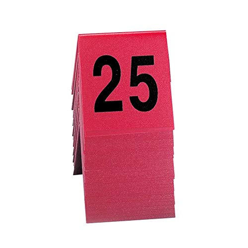 Cal-Mil 226 Tabletop Number Tents - #1-25, 3