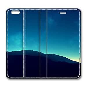 Blue Mountains Digital Art Standing Leather Smart Cover Case Exclusive for iPhone 6 Screen