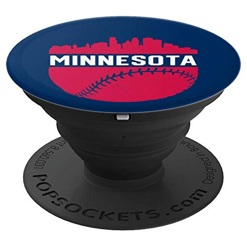 Minnesota Note Twins - Vintage MPLS STP Minnesota Skyline Baseball - PopSockets Grip and Stand for Phones and Tablets