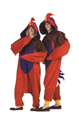 RG Costumes Ren The Rooster, Red/Brown/Blue, One Size (Adult Rooster Costume)