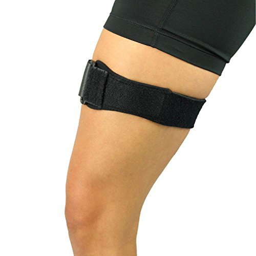 Runners Knee Strap (IT Band Strap by Vive - Iliotibial Band Compression Wrap - Outside of Knee Pain, Hip, Thigh & ITB Syndrome Support Brace for Running and Exercise)