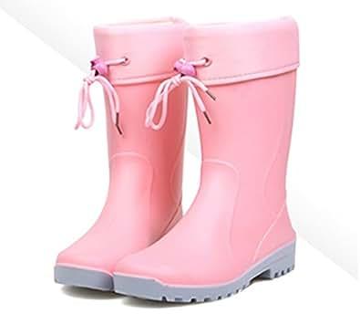 Amazon.com | Anna&Zero® Flora Women's Short Rain Boots