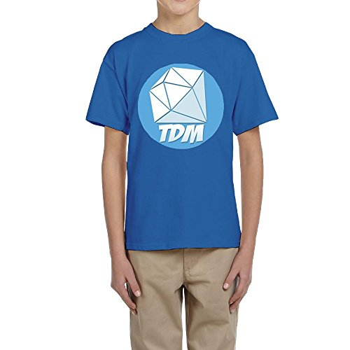 Evelyn C. Connor DanTDM Logo One Youth Tee For Teens Royalblue