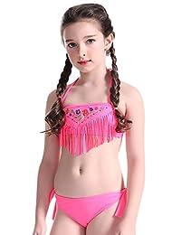 Aivtalk Little Girls Swimsuits Two Piece Bikini Swim Bathing Suit Size 152 - Red
