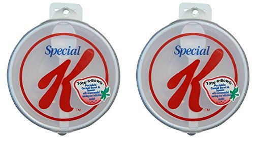 Special K Tote-a-Bowls 2 Pack - Travel Bowls includes Lid and Spoon