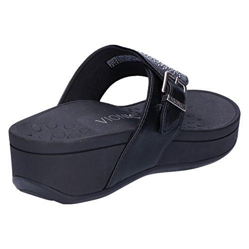 Leather Black Pacific Vionic Sandals Womens Capitola wZUxYnfq